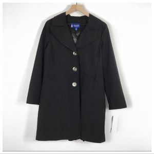 The Tower Collection By London Fog Black Raincoat